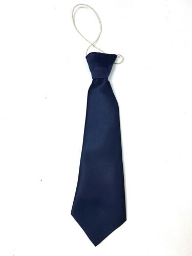 Young Boys Toddlers Elasticated Satin School Wedding age 2-7 Years Plain Tie