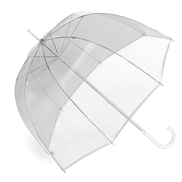 """RainStopper 34"""" Children's Clear Plastic PVC Dome Bubble Rain Sun Shade Umbrella"""