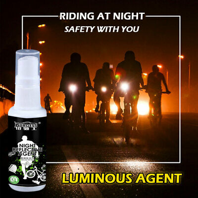 Night Reflective Spray Running Bike Fluorescence Paint Anti Accident Safe Mark G