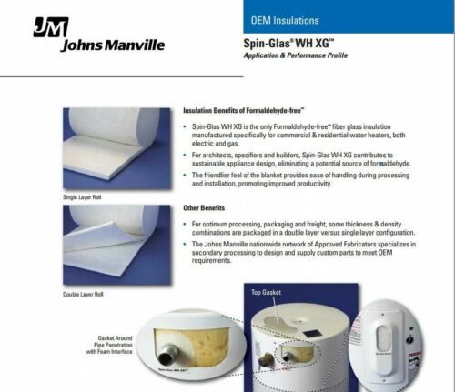 """24/"""" 10ft Johns Manville Appliance Thermal Insulation Heaters Oven Dryer 1000F"""