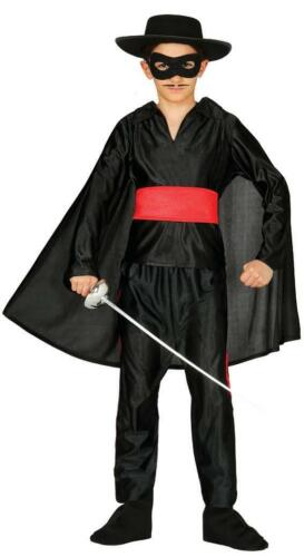 Boys Bandit Masked Hero Zorro Fancy Dress Costume Childrens Outfit Book Day