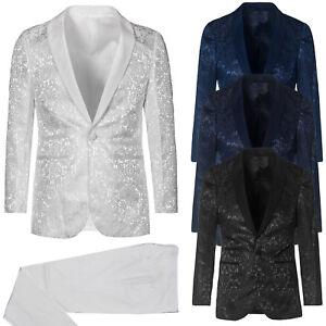 Vestito-Uomo-Elegante-Slim-Fit-Abito-Damascato-Floreale-Cerimonia-Sartoriale