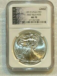 2013-Silver-Eagle-NGC-MS70-Excellent-Condition