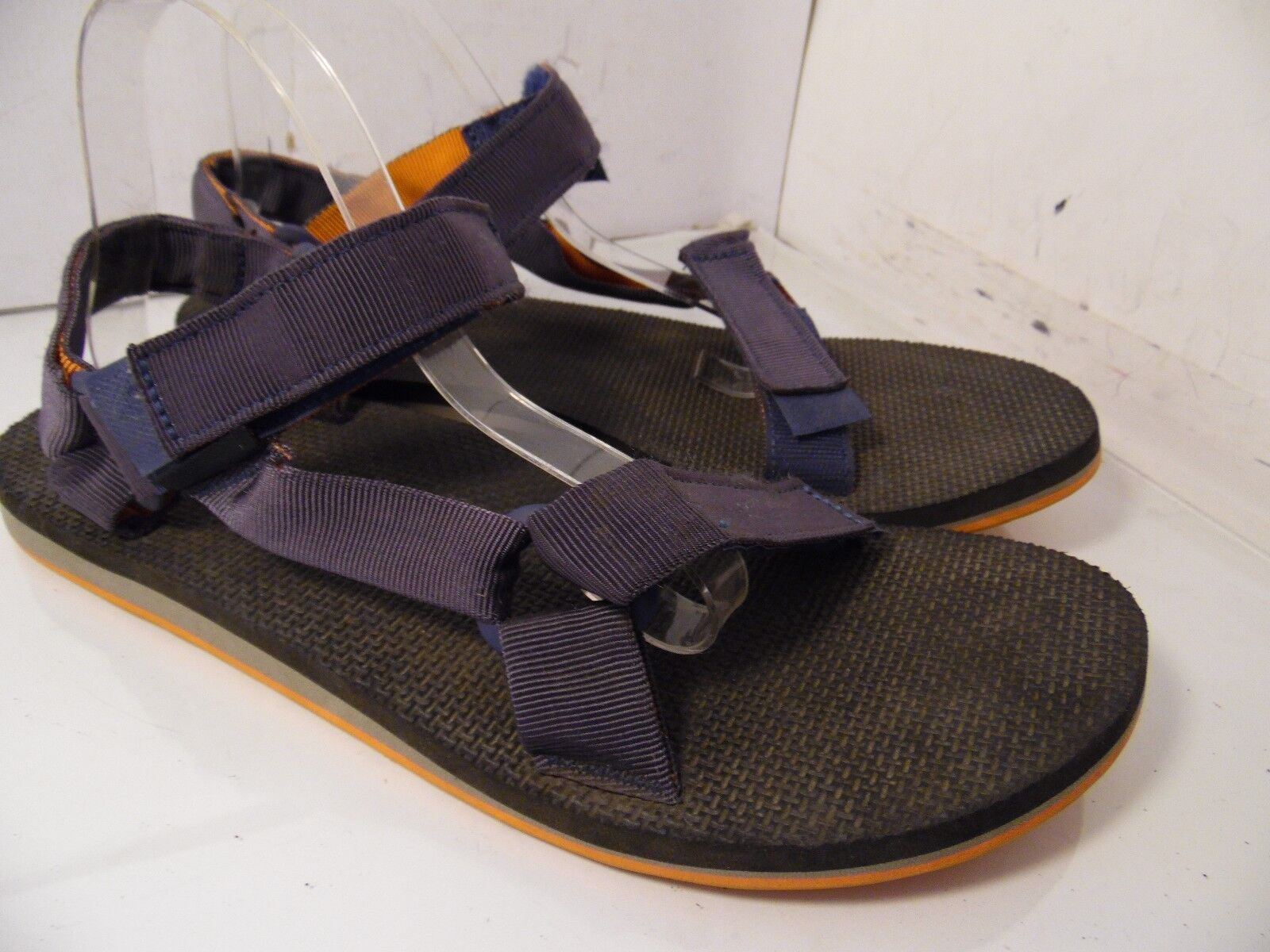 TEVA SN 1004006 Men Sport Sandals Hook Loop Dark Blue Orange Size 12