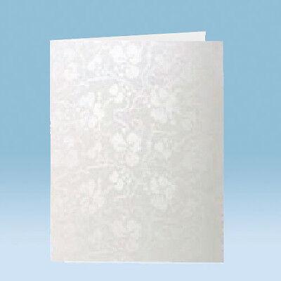 50 A5 White Tapestry Broderie Card Blanks (no envelopes)