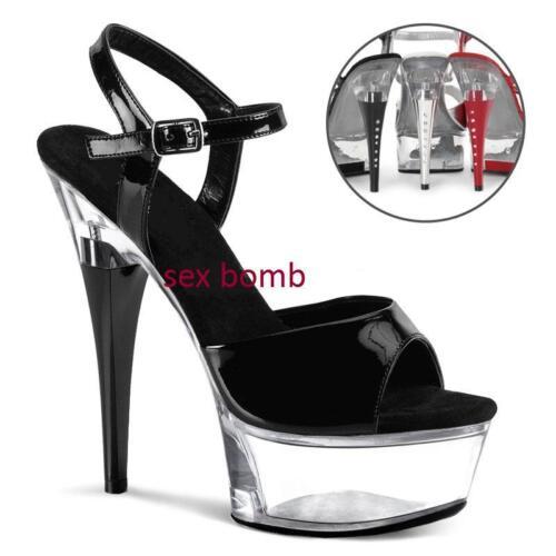 Neri 15 Dal Glamour Fashion 35 Plateau Sandali 43 Sexy Strass Tacco Cinturino Al FwfFHx6q