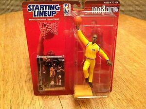 1998 STARTING LINEUP NBA Shaq Shaquille O/'Neal Los Angeles Lakers Warm Up SLU