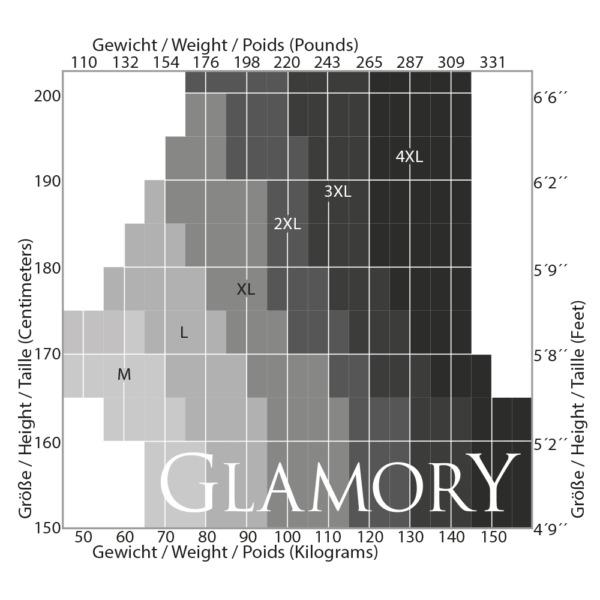 Glamory Strumpfgürtel 6 Straps Strapsgürtel Strumpfhalter Metall-Clips schwarz