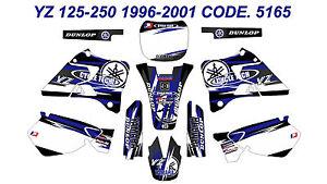 5165 Yamaha YZ 125-250 1996-2001 Autocollants Déco Graphics Stickers Decals Kits