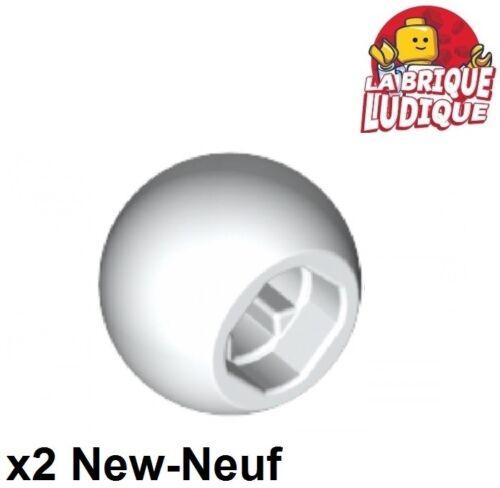 Lego technic 2x ball round bullet ball joint white//white 32474 new