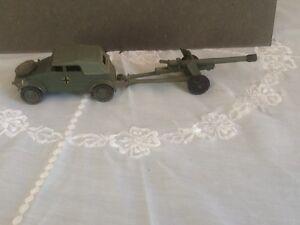 Dinky Toy617 Vw Kdf et pistolet anti-char de 50mm