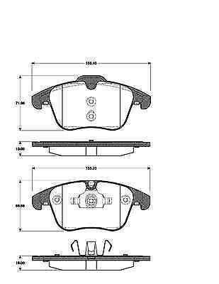 balatas delantero Ford Galaxy S-Max volvo s60 s80 v70 xc70 Discos de freno 300mm