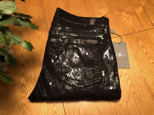 Nwt 29 Jeans Kvinders The 31 Skinny Snakeskin hele menneskeheden X 7 For Black syv qqAWTBa