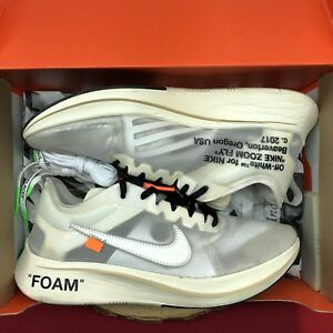 d5f651043fe6 Nike Off White Zoom Fly The 10 Size 11.5 AJ4588 100 Max Vapor 90 ...