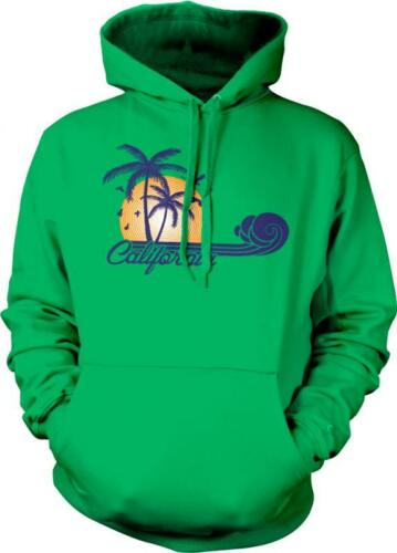 California Wave Surfing Palm Trees Sunset Beach West Coast Pride Hoodie Pullover
