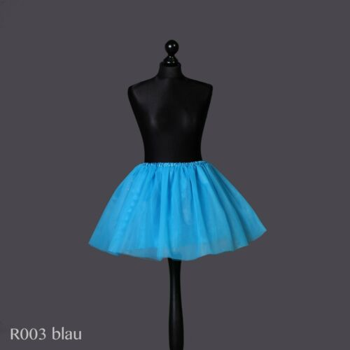 5 Couches Minijupe Tütü ballettrock tüllrock tanzrock Carnaval bleus lafairy