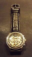 Meridian Man'sWristwatch rare automatic skeleton movement front and back