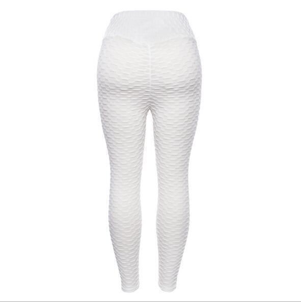 10 Color Legging Jacquard Weave Fold Legging  Push Up Wide Waist Legging S-L