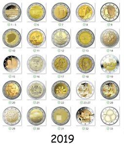 2-euro-commemorative-2019-Tous-les-piece-disponibles