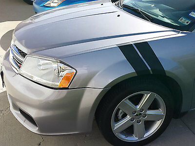 """DODGE AVENGER 4"""" FENDER HASH STRIPES GRAPHICS DECALS - TONS OF COLOR OPTIONS"""