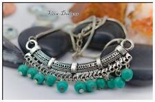 Tibetan Silver Turquoise Stone Pendant Silver Vintage Neckless