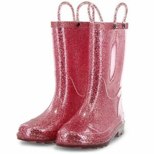 68c108c875f KIDS LIGHT UP RAIN BOOT COLOR  ROSE GOLD (11 12)-(13 1) NEW