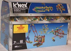 KNEX-12104-Bausteine-Kiste-480-Teile-fuer-35-Bau-Ideen-NEU-OVP