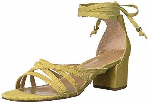 ADRIENNE Yellow, VITTADINI Footwear Women's Alesia Heeled Sandal, Yellow, ADRIENNE 7.5 M US 3122a3