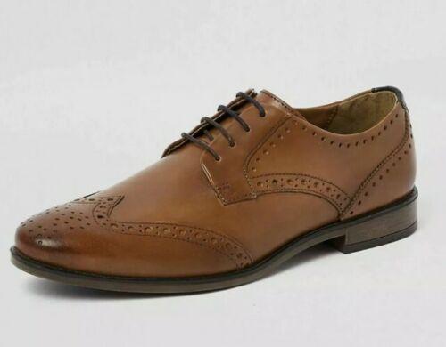 River Island Roger cuir Chaussures Chaussures Marron Hommes UK 10 neuf avec étiquettes
