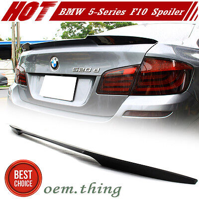 Unpainted BMW 5-Series F10 M4 TYPE REAR TRUNK BOOT SPOILER 11-16 528i M5