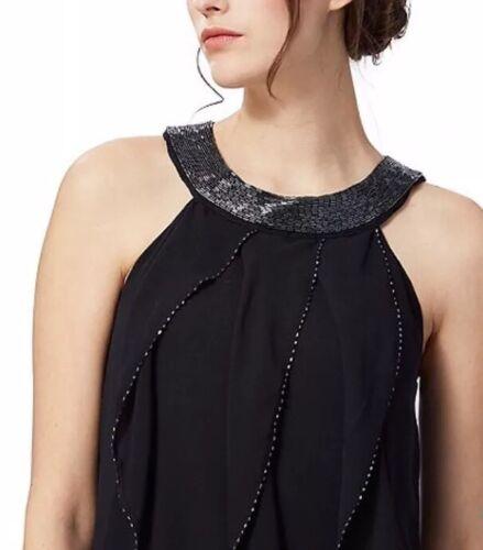 'kara' Debut Dress Evening Size Navy £99 Ruffle Bnwt Debenhams 12 wOBEaqa