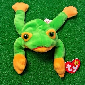 9c83ced1f4c MWMT 1997 Smoochy The Frog Ty Beanie Baby Retired Amphibian Plush ...