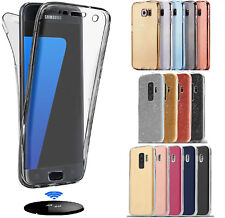 Shockproof 360° Clear Gel Case Cover For Samsung Galaxy S8 S9 Plus A6 A8 J4 J6 +