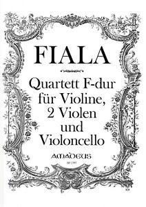 2 Violen Und Violoncello Quartett F-dur Für Violine J.fiala Kataloge Werden Auf Anfrage Verschickt