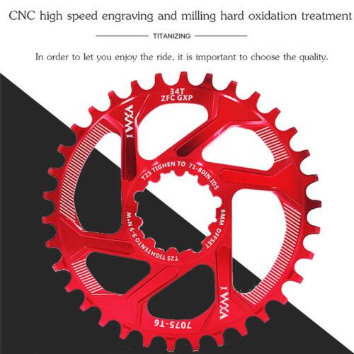 VXM MTB Cycling Chainring GXP Bike 30-38T Nerrow Wide Tooth Chainring Chainwheel