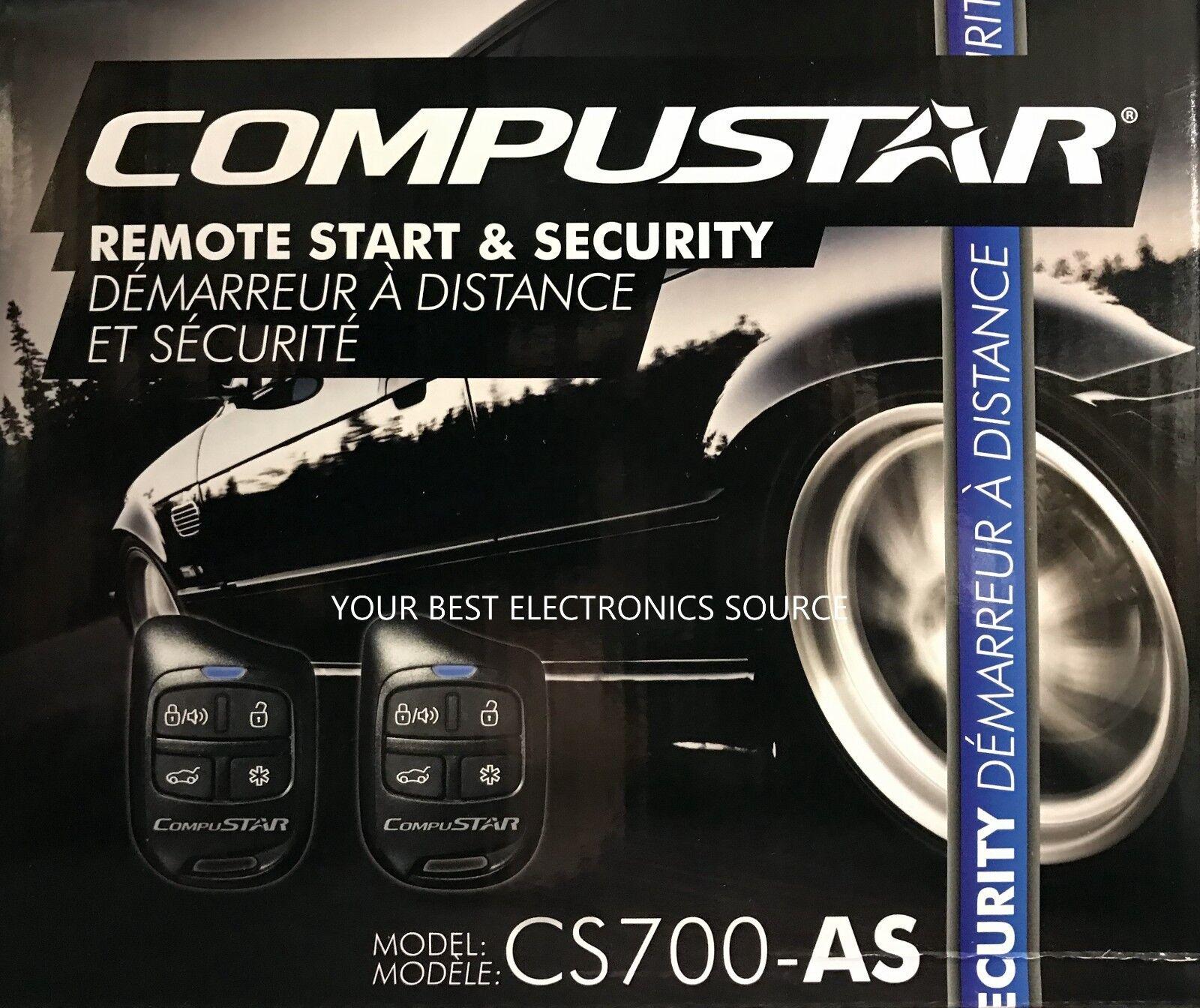 CompuSTAR CS700-AS Car Alarm /& Remote Starter System Remote Start /& Security CS700AS