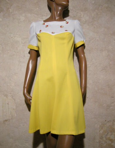 Kleid 70s 38 Vintage Dress 70er True 1970 Vestido Pop Abito Vtg Chic Robe w80SqFxcB