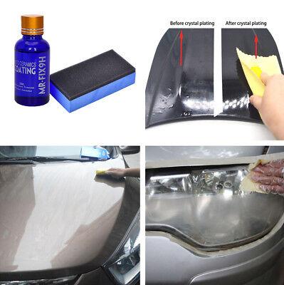 1x Car Liquid Ceramic Coat Headlights Glass Coating Polish + Sponge Anti-Scratch