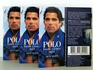 POLO-RALPH-LAUREN-BLUE-EDT-Lot-of-4-samples-FOR-MEN-FREE-GIFT-FREE-SAMPLE