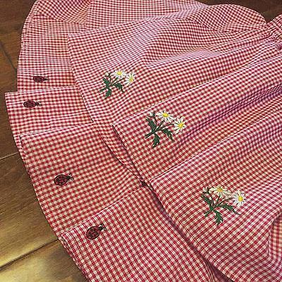 2015 Embroidery  Amo Lolita Flowers Daisy Ladybug Skirts Short  Dress Check Pink