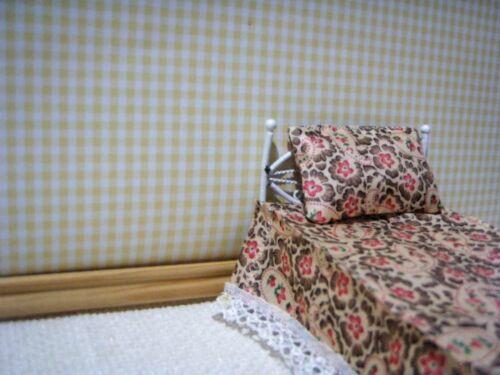 Lemon Gingham Casa delle Bambole Carta Da Parati
