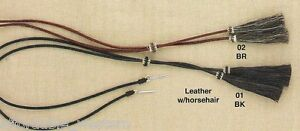 Leather & Horsehair Tails ~ STAMPEDE STRING ~ Chin Strap Hat COTTER PIN Western