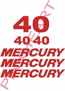 mercury outboard decal kit 40 hp decal stickers  USA made