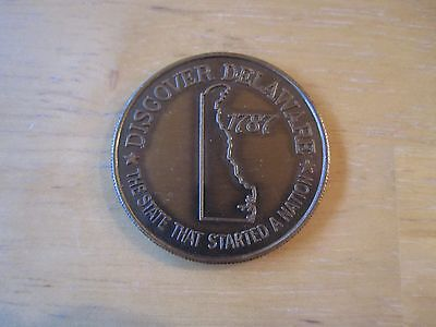 "1-1/2"" Od Coins & Paper Money Frugal Discover Delaware The State That Started A Nation Medal"