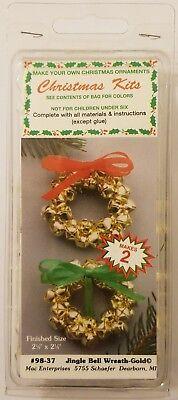 "Tiny Treasure Ornament /""Yesterday/"" Ivory Mist Beaded Craft Kit Merri Mac Vintage"