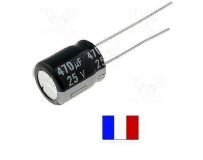 10 condensateurs chimique électrolytique 2200µF 2200uF 10V radial WH 105°C THT