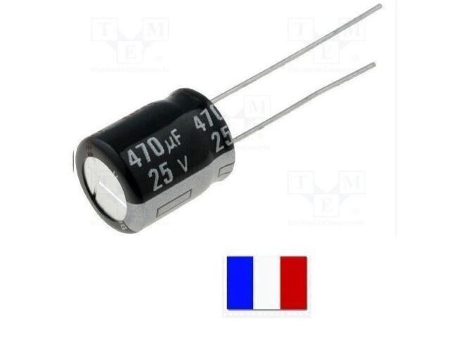 N10//3300# 2 à 20 pcs 3300µF 10v nichicon Condensateur chimique 12,5x20 3300uf