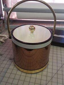 Mid Century ice bucket SHELTON-WARE - Shows wear