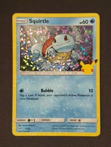 Pokemon McDonald/'s 25th Anniversary Squirtle 17//25 Holo Promo Card 2021 Hologram