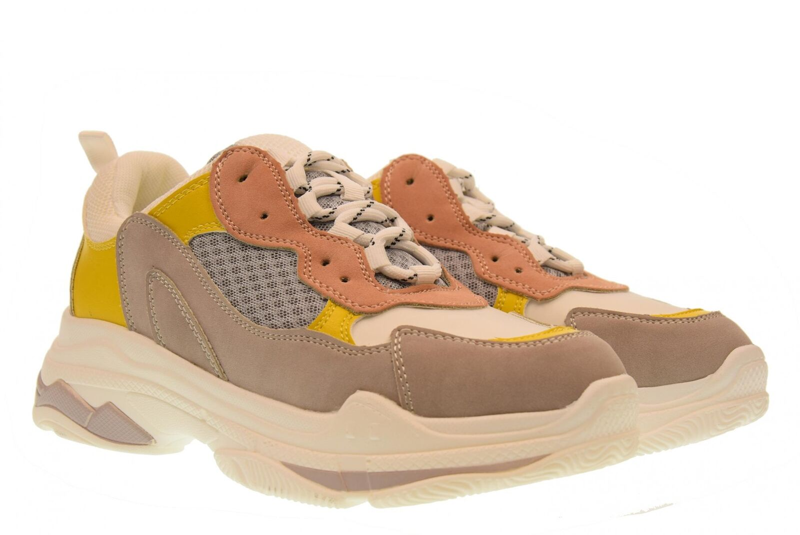 Or&or A18f chaussures femme baskets basses gt529 jaune-gris
